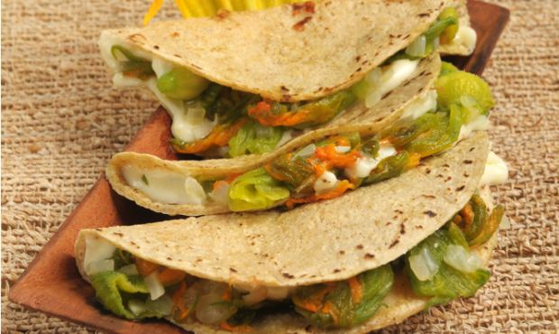 How to Make Pumpkin Flower Quesadillas