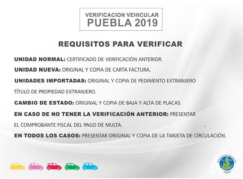 Verificación Vehicular en Puebla - Requisitos y Trámite